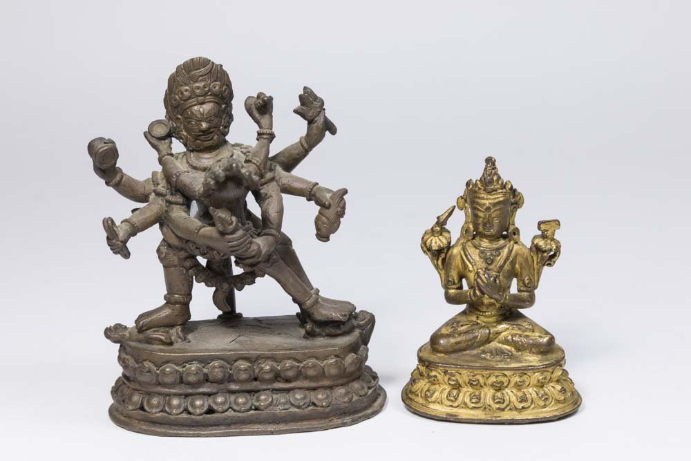 2 Tibetan Small Bronze Figures