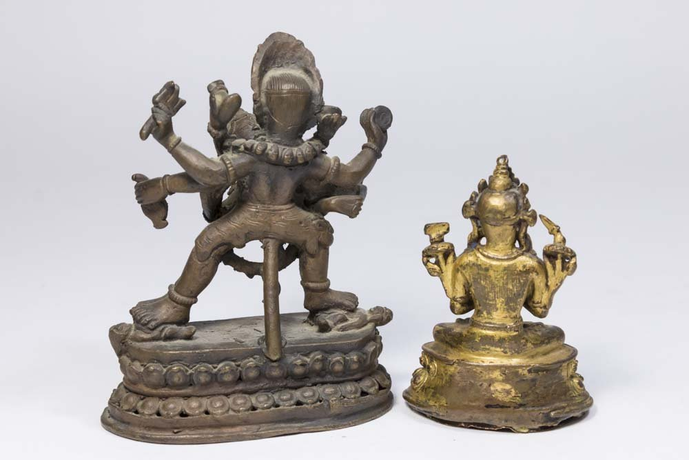2 Tibetan Small Bronze Figures - 2