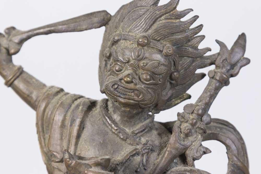Tibetan Bronze Deity on Horse - 2