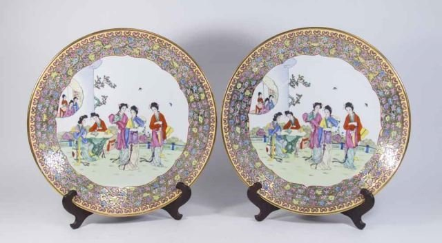 :Pair Chinese Porcelain Chargers