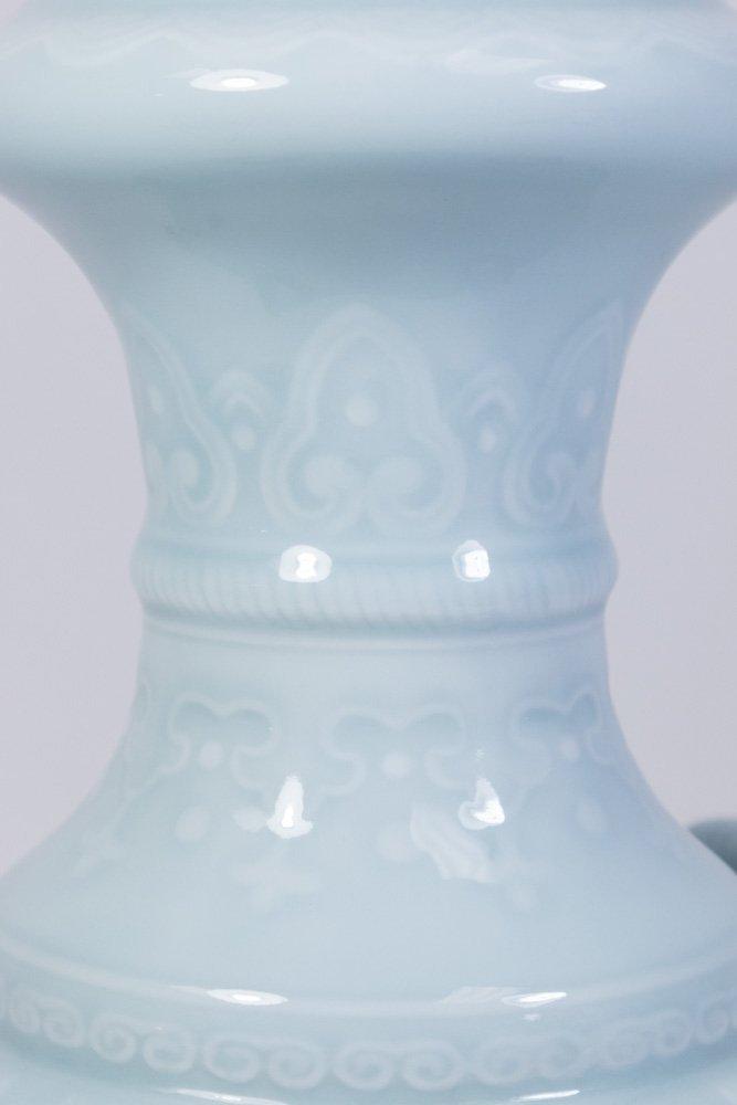 Claire De Lune Glazed Chinese Porcelain Vase - 4
