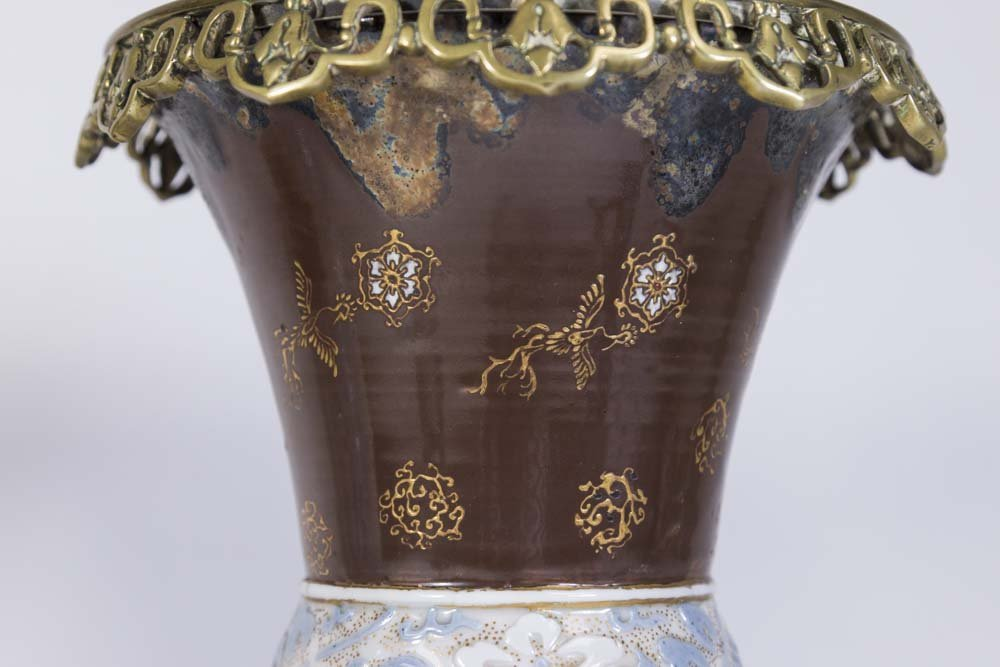 Pair Asian Style Porcelain Vases - 2