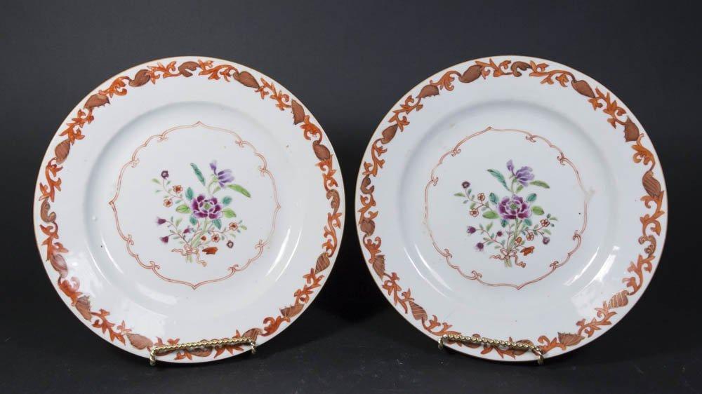Pair Asian Porcelain Plates