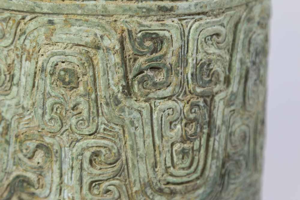 Chinese Bronze Covered Urn - 3