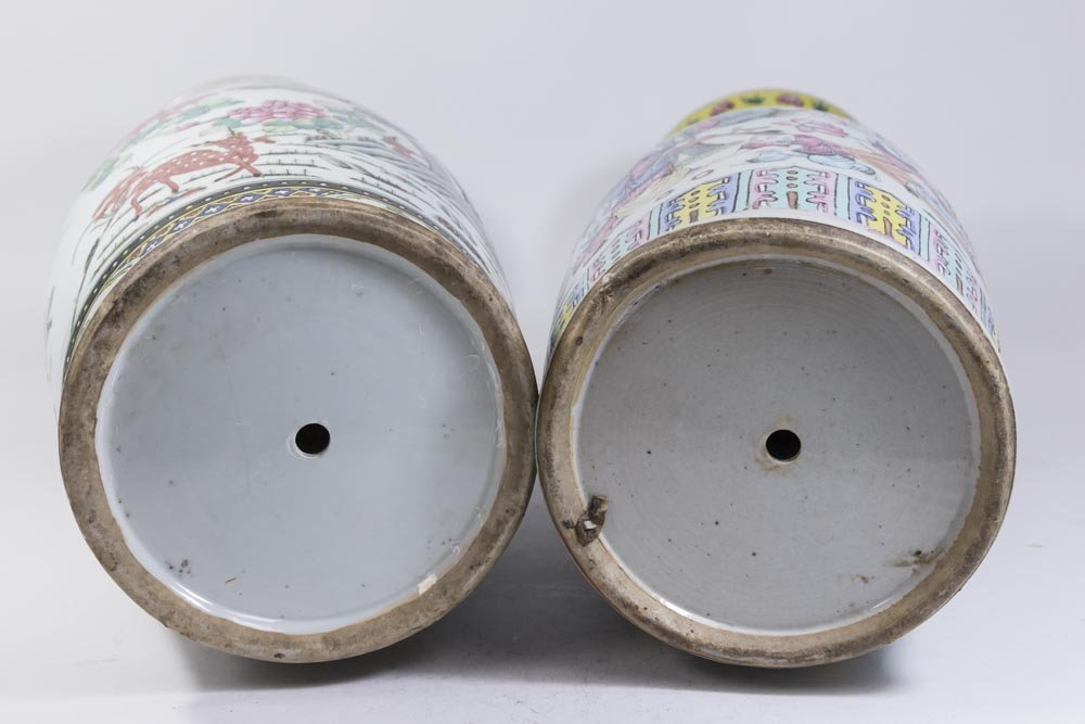 Two Chinese Famille Rose Porcelain Vases - 10
