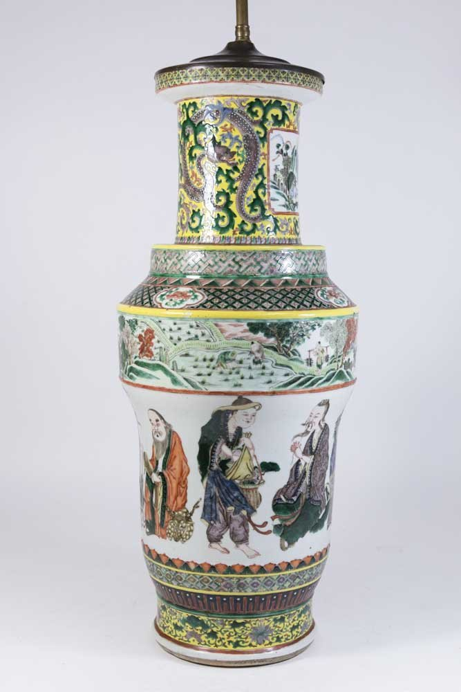 Chinese Porcelain Vase Decorated with Nine Gods - 2