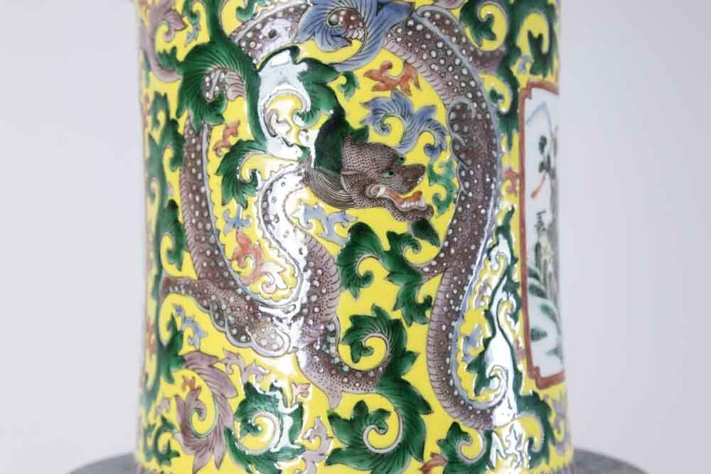 Chinese Porcelain Vase Decorated with Nine Gods - 3