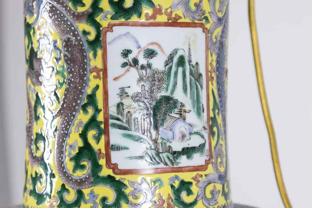 Chinese Porcelain Vase Decorated with Nine Gods - 4