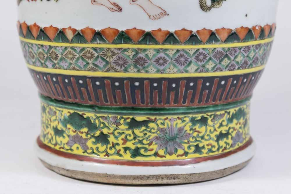 Chinese Porcelain Vase Decorated with Nine Gods - 8