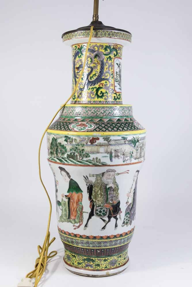 Chinese Porcelain Vase Decorated with Nine Gods - 9