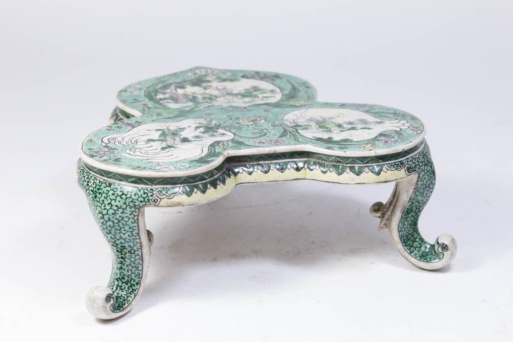 Chinese Porcelain Green Ground Trivet
