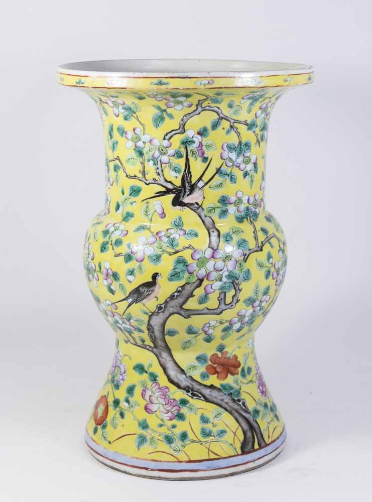 Chinese Porcelain Yellow Ground Vase