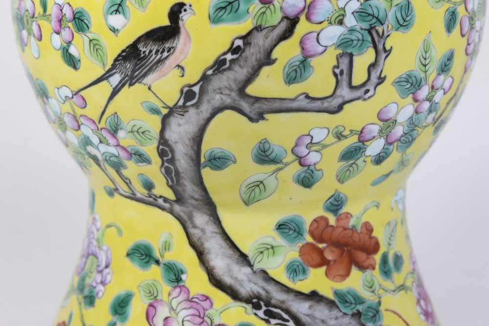 Chinese Porcelain Yellow Ground Vase - 3
