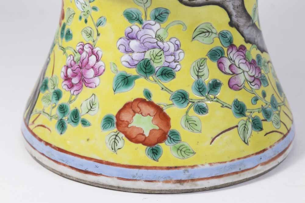 Chinese Porcelain Yellow Ground Vase - 4