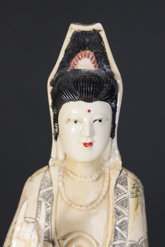 Chinese Carved Bone Guan Yin - 2