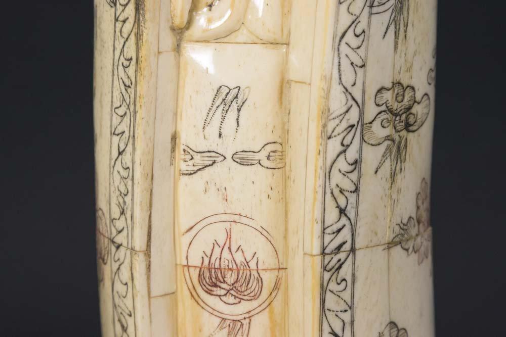 Chinese Carved Bone Guan Yin - 4