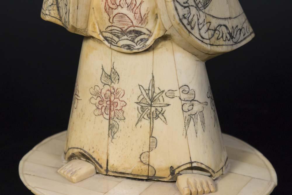 Chinese Carved Bone Guan Yin - 5