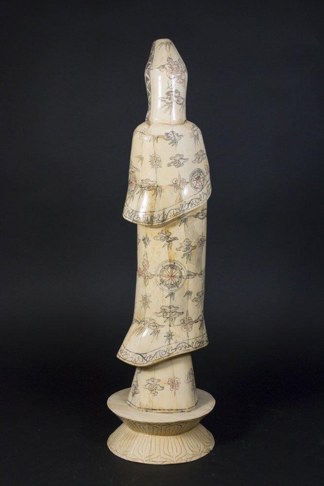 Chinese Carved Bone Guan Yin - 7