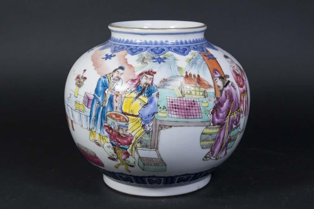 Chinese Porcelain White Ground Vase