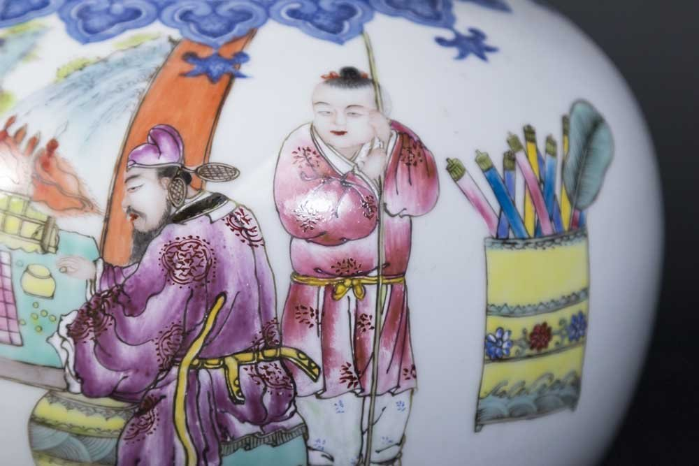Chinese Porcelain White Ground Vase - 3