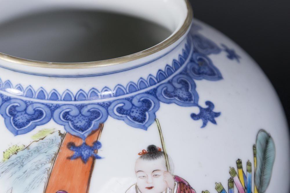 Chinese Porcelain White Ground Vase - 4