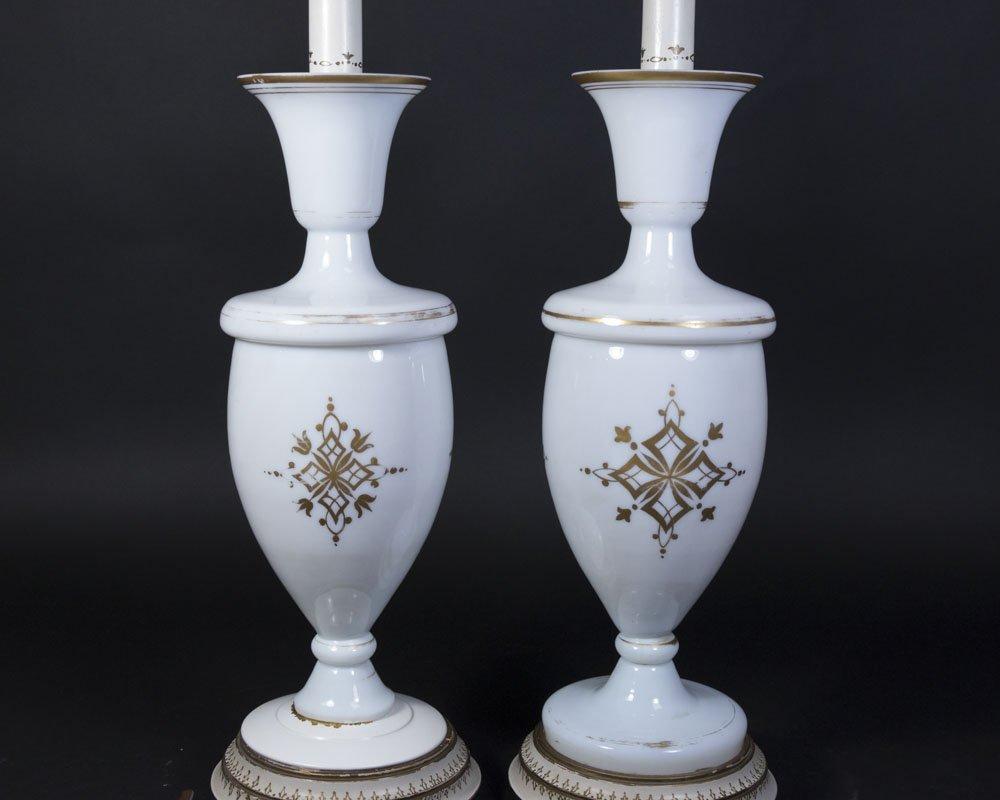 Pair Opaline Portrait Vases - 4