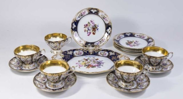 :Possibly Russian Porcelain Partial Set