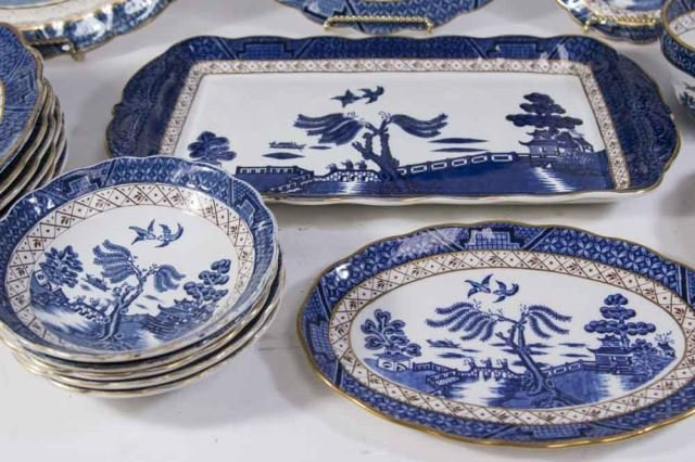 :Booths English Dinnerware by Pearl Old Willow - 4