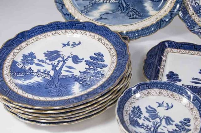 :Booths English Dinnerware by Pearl Old Willow - 5