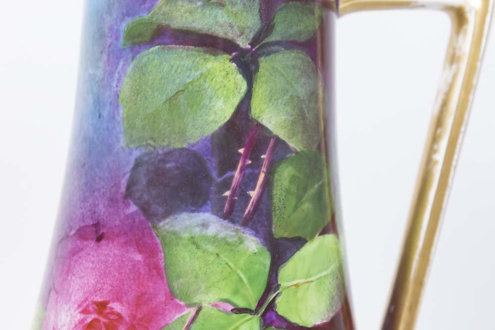 Limoges Porcelain Hand Painted Pitcher - 3