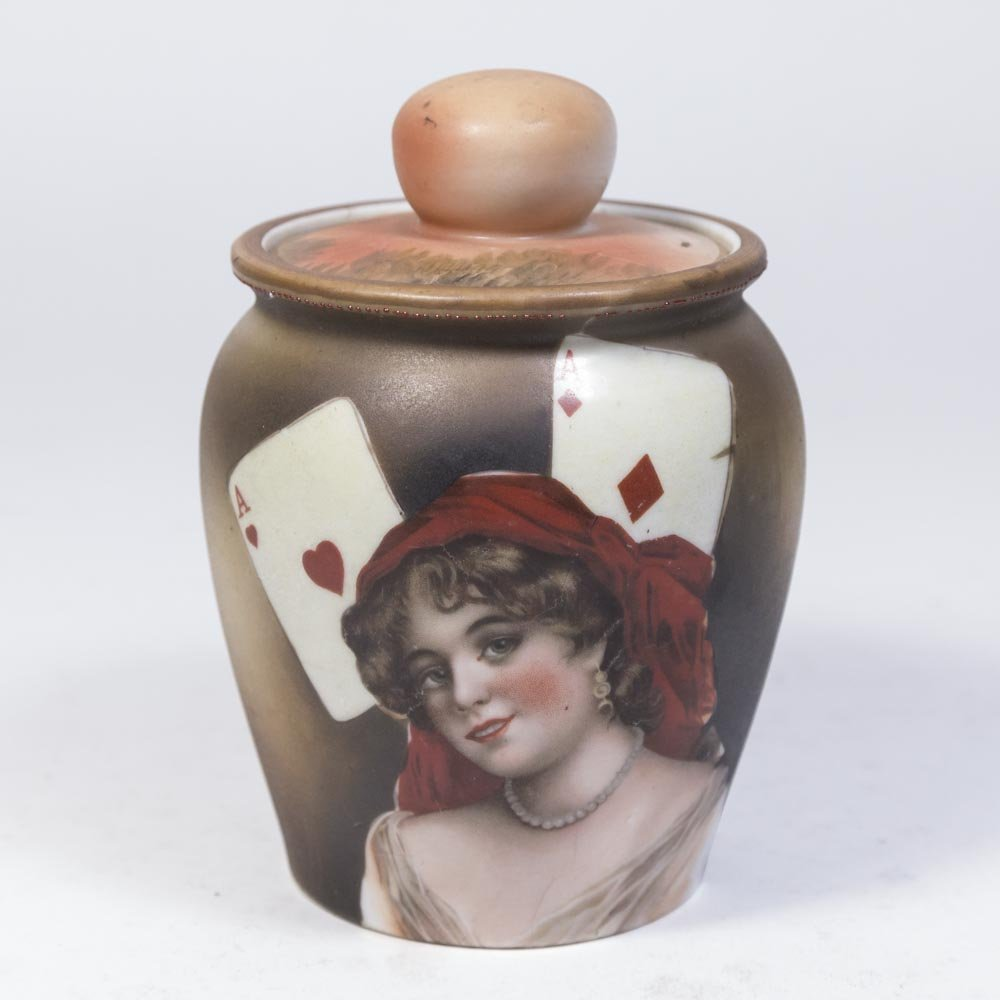 Nippon Porcelain Tobacco Jar