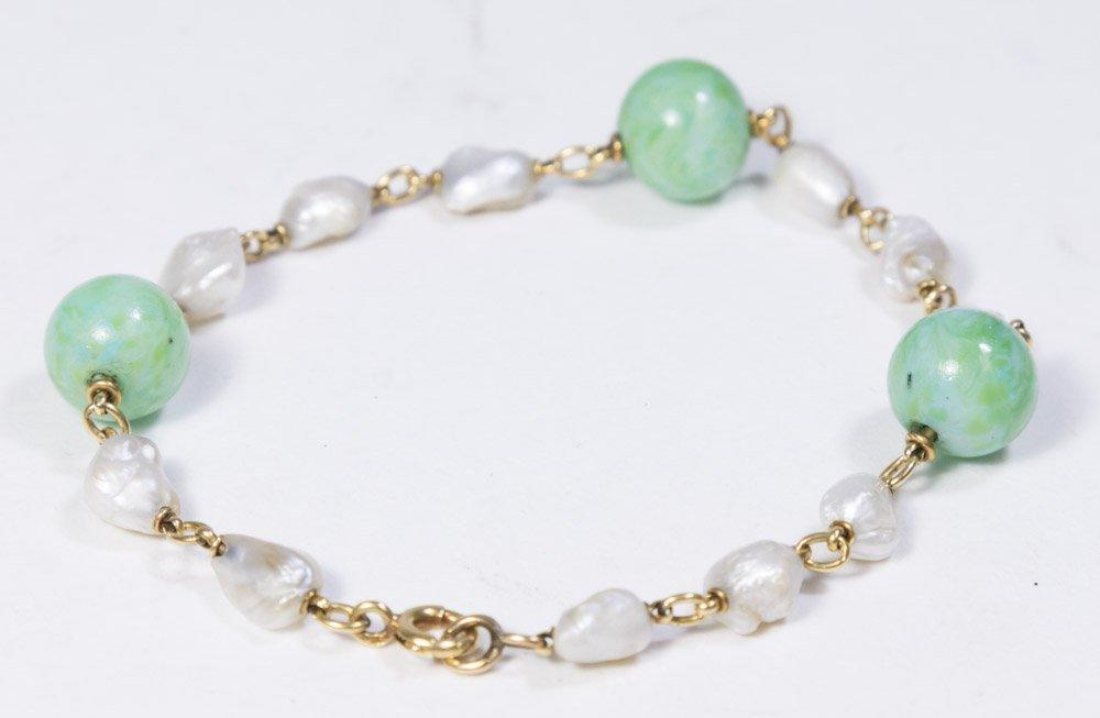 Jade & Fresh Pearl Bracelet