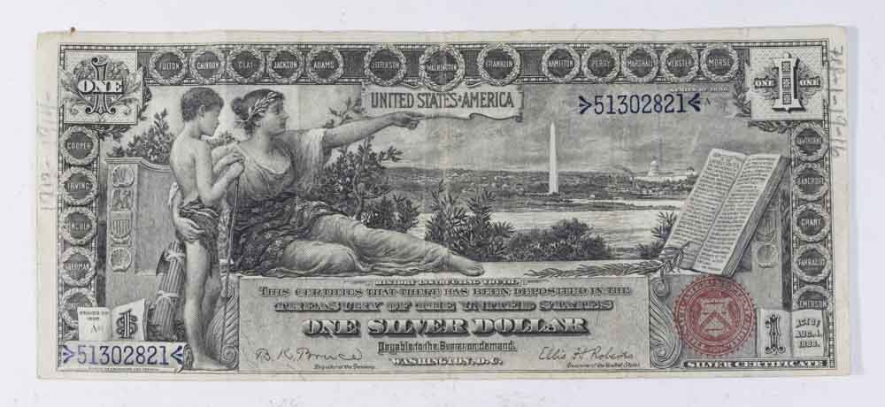 1896 $1 Silver Certificate - Educational Series - 2