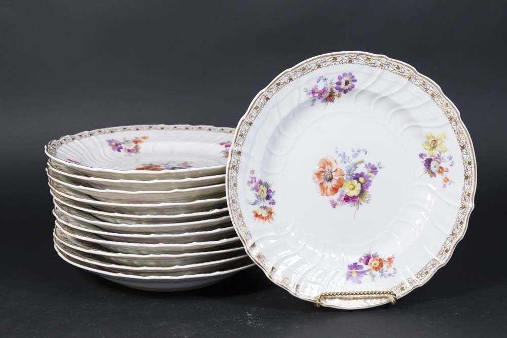 12 KPM Porcelain Soup Plates