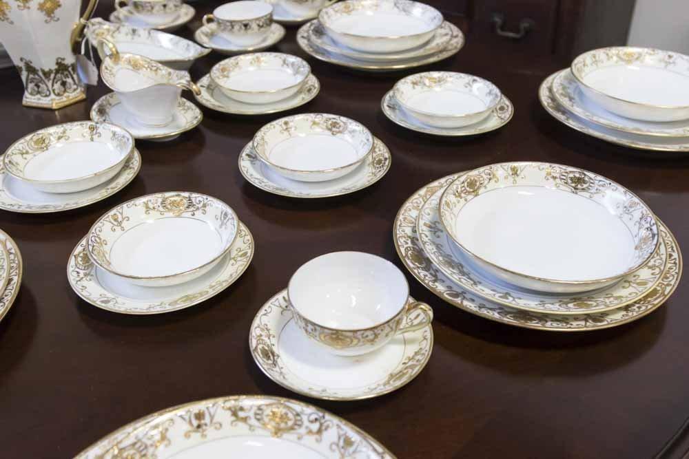 Noritake Gilded Dinnerware Set - 2