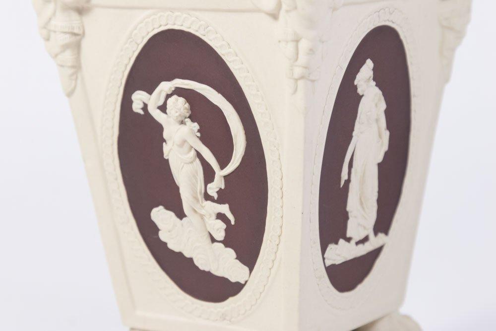 Antique Wedgwood Square Figural Jasperware Vase - 2