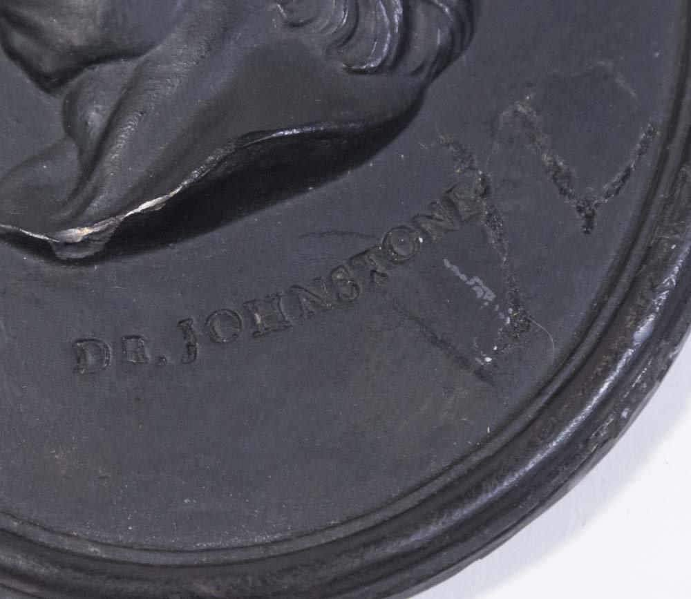 Antique Wedgwood Black Basalt Oval Plaque - 2