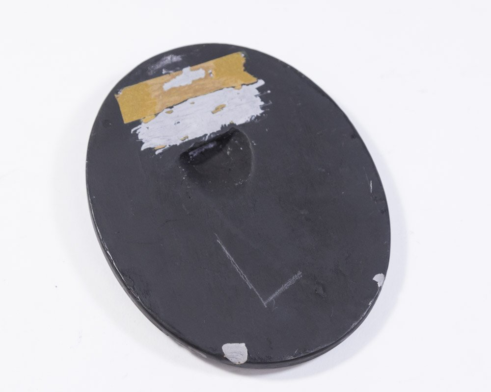 Antique Wedgwood Black Basalt Oval Plaque - 3
