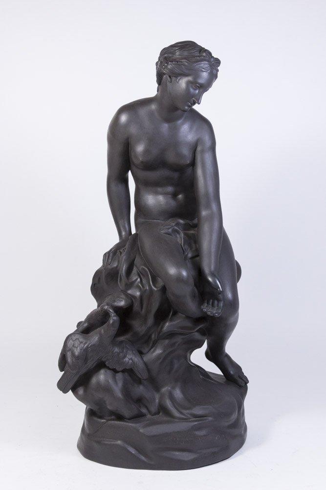 Wedgwood Black Basalt Figure of Venus on Rock