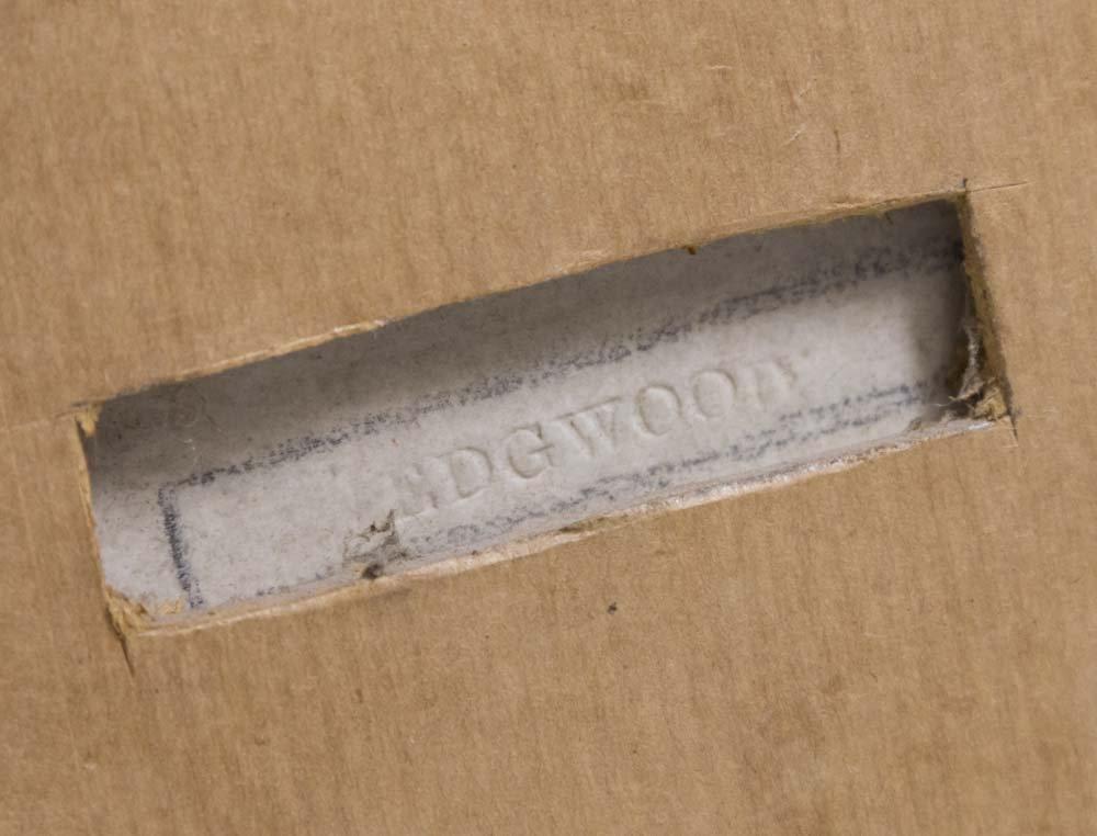 Pair Wedgwood Green & White Mythological Plaques - 6