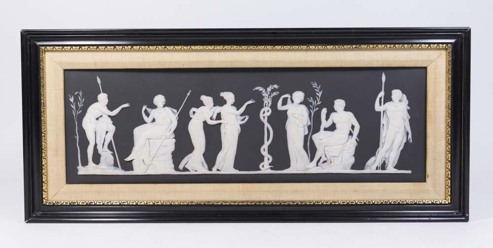 Antique Black & White Wedgwood Mythological Plaque