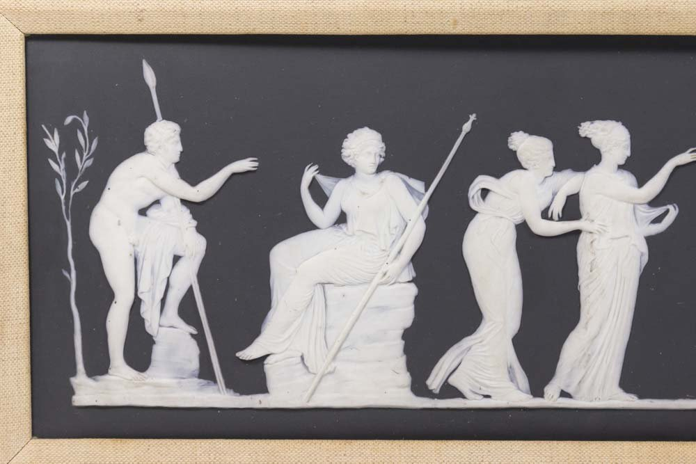 Antique Black & White Wedgwood Mythological Plaque - 2