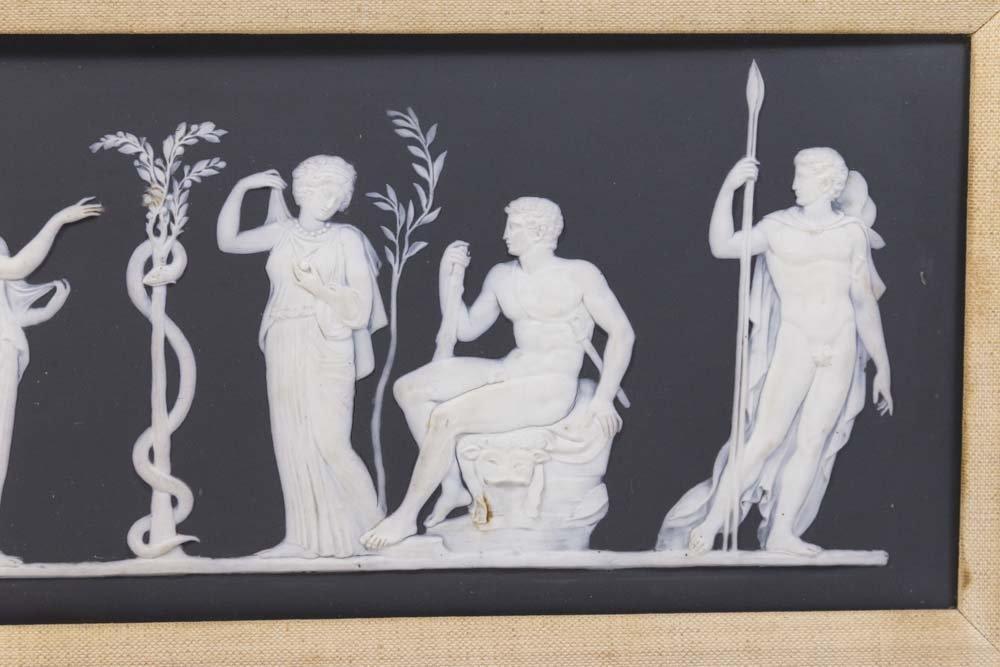 Antique Black & White Wedgwood Mythological Plaque - 3
