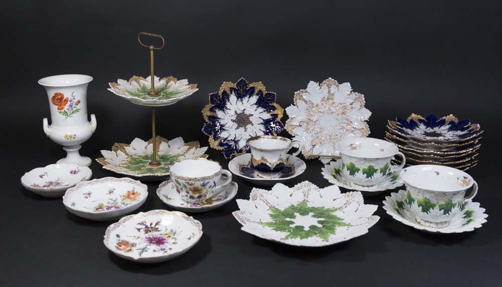 Group Lot Meissen Porcelain