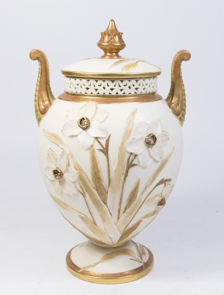 Royal Worcester Covered Urn