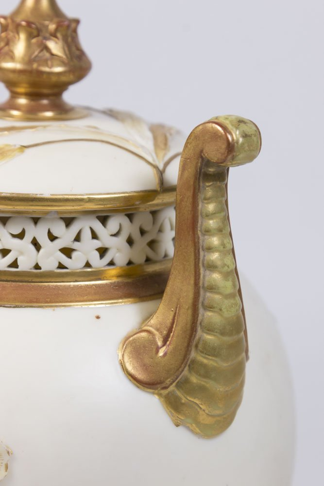 Royal Worcester Covered Urn - 3
