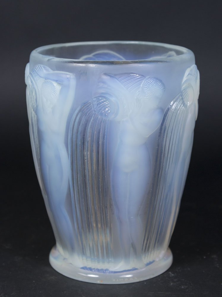 R. Lalique Vase with 6 Nudes