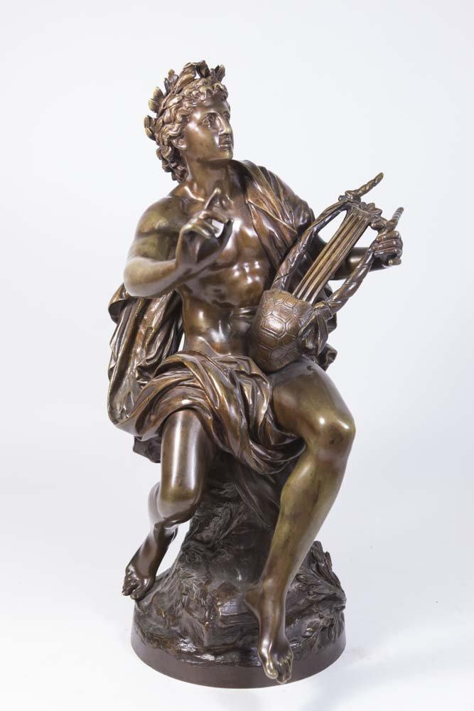 19th Century Bronze Figure of Apollo