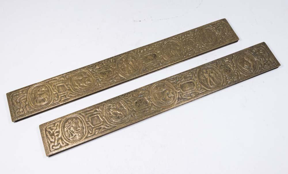 Tiffany Studios Pair Bronze Blotters