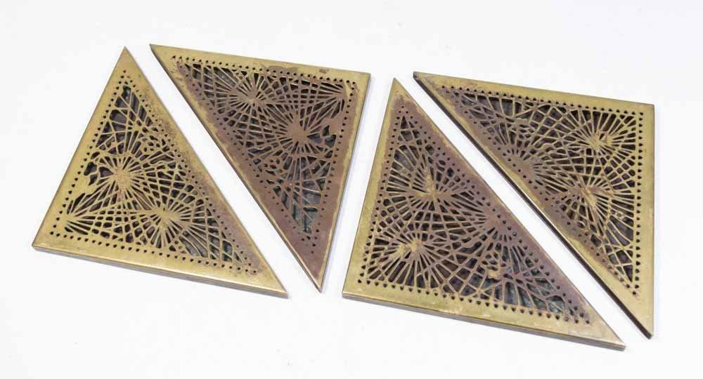 4 Tiffany Studios Bronze Pine Needle Blotter Ends